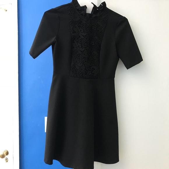 Zara Dresses & Skirts - Black Zara Dress with lace